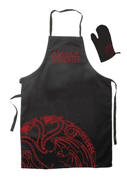 Game of Throne Targaryen Oven Mitt and Apron Set
