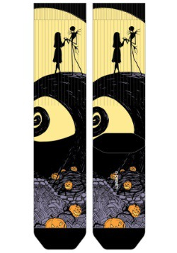 Nightmare Before Christmas Hill Scene Sublimated Socks