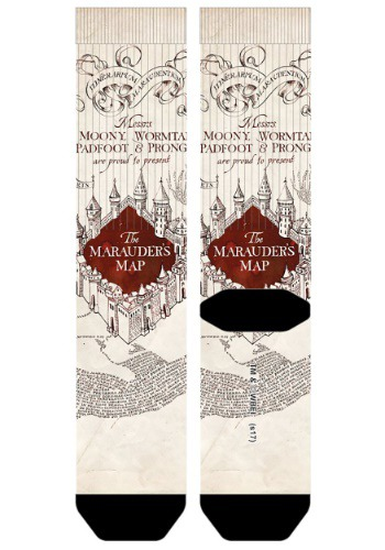 Harry Potter Marauders Map Sublimated Socks