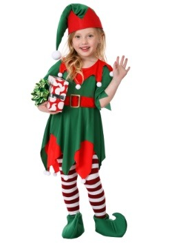 Toddler Girl's Santa's Helper Costume