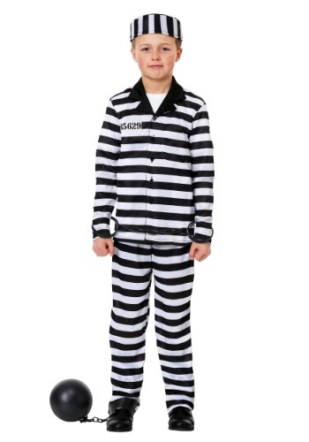 Boy's Deluxe Button Down Jailbird Costume