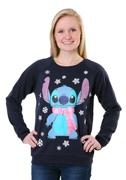 Lilo and Stitch Snowflake Stitch Juniors Light Up Sweatshirt