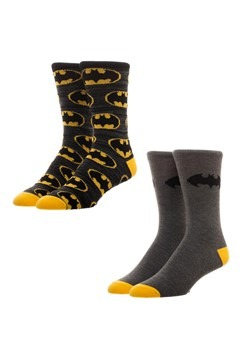 Batman 2 Pack Crew Socks