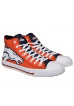 Denver Broncos High Top Big Logo Canvas Shoes