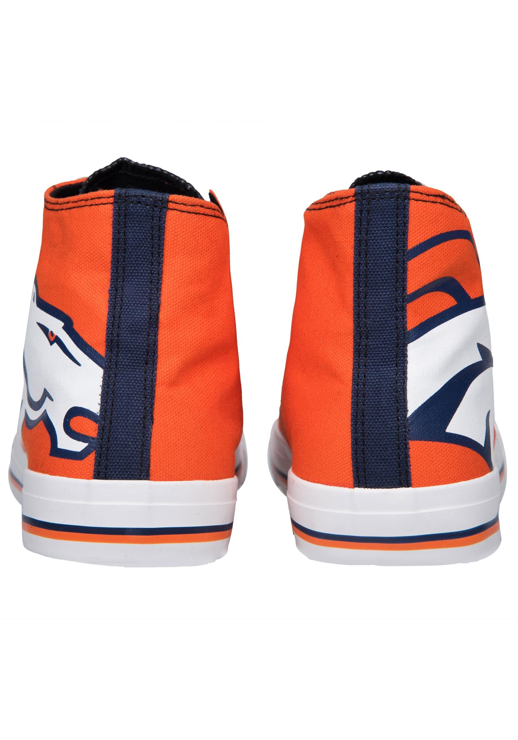 pretty nice 7d859 8a56f Denver Broncos High Top Big Logo Canvas Shoes