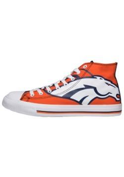 Denver Broncos High Top Big Logo Canvas Shoes Alt 1