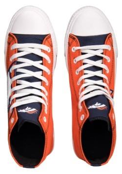 Denver Broncos High Top Big Logo Canvas Shoes Alt 2