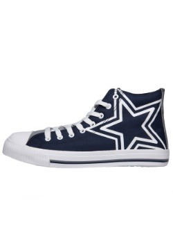 Dallas Cowboys High Top Big Logo Canvas Shoes Alt 1