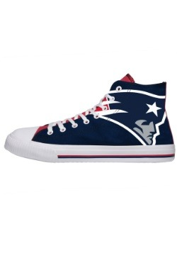 New England Patriots High Top Big Logo Canvas Shoes