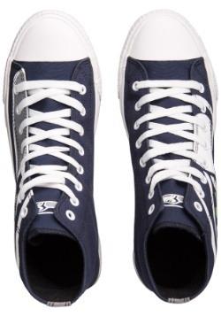 Seattle Seahawks High Top Big Logo Canvas Shoes Alt 2