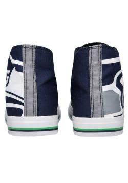 Seattle Seahawks High Top Big Logo Canvas Shoes Alt 3