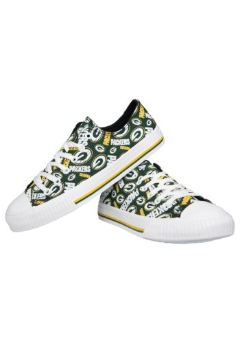Green Bay Packers Low Top Womens Canvas Shoes