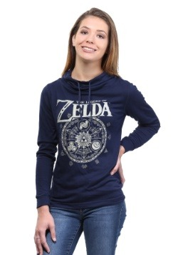 Zelda Hyrulian Circle Juniors Fleece Cowl Neck