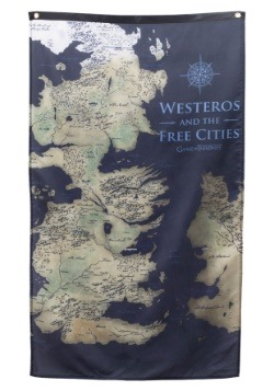 Game of Thrones Westeros Map Banner