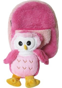 Pink Owl Plush Animal Backpack