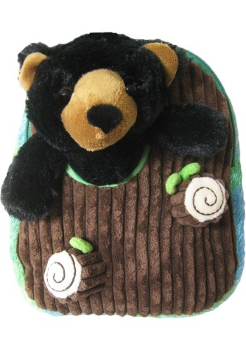 Black Bear Plush Animal Backpack