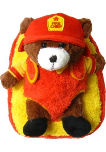 Fire Chief Bear Animal Backpack