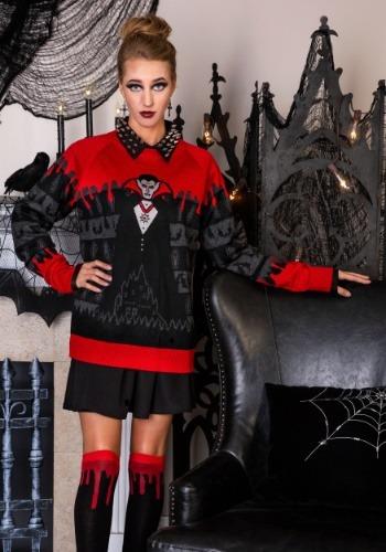 Adult Dracula Vampire Ugly Halloween Sweater