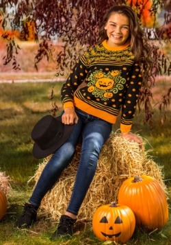 Child Pumpkin Patch Ugly Halloween Sweater