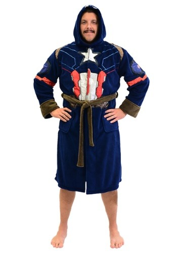 Captain America Adult Fleece Robe