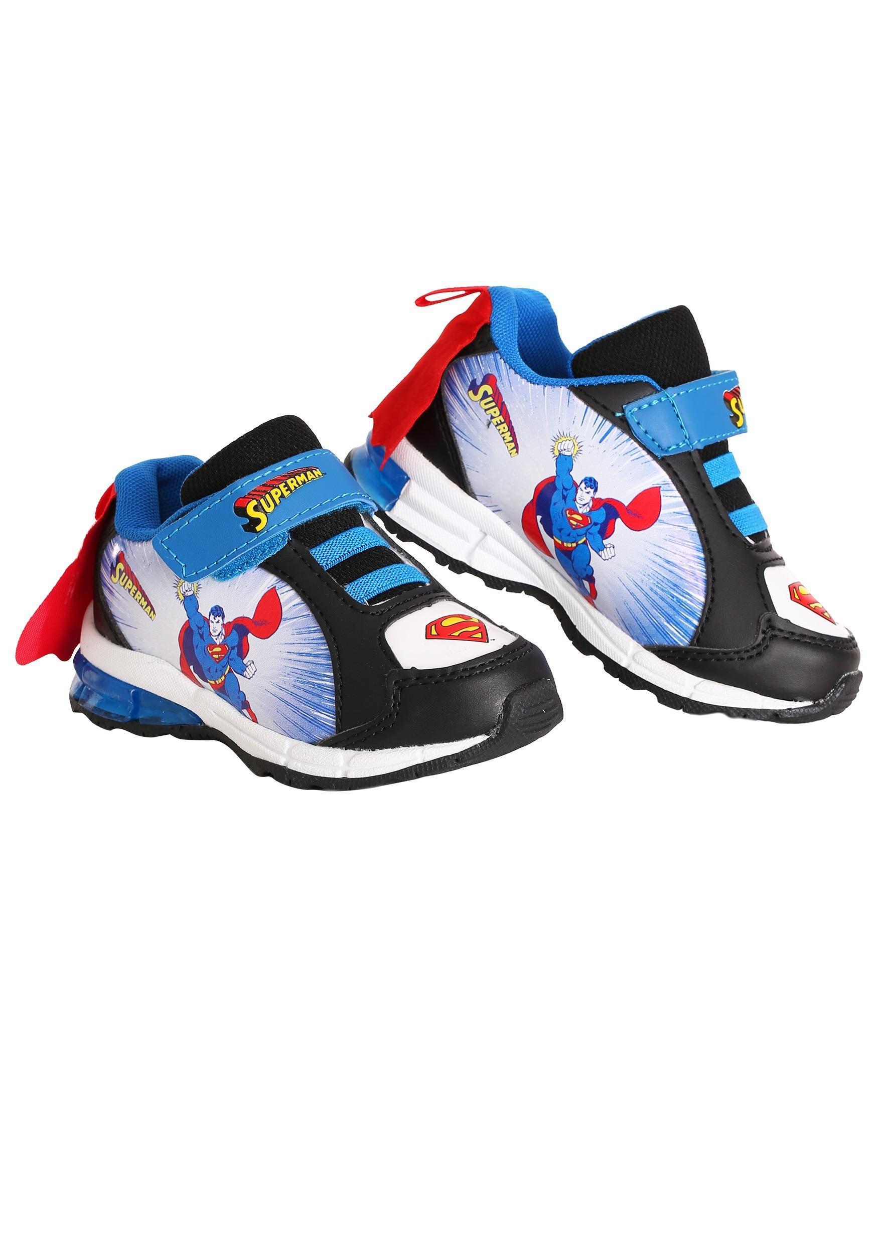 kids athletic superman shoes