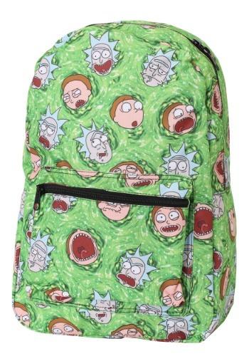 Portal Print Rick And Morty Backpack