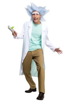 Adult Rick and Morty Deluxe Rick with Wig & Unibrow