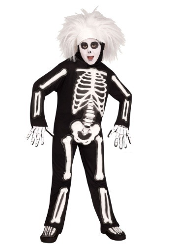 Child SNL Beat Boy Skeleton Costume