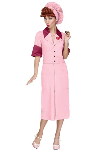 Womens I Love Lucy Candy Factory Costume