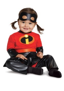 Incredibles 2 Deluxe Infant Violet Jumpsuit with Skirt 2