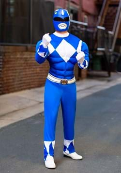 Power Rangers Adult Blue Ranger Muscle Costume Update