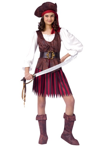 Girls High Seas Pirate Girl Costume