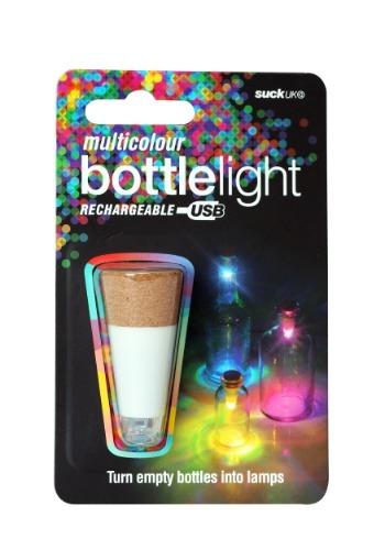 Multicolor Bottle Light USB Rechargeable