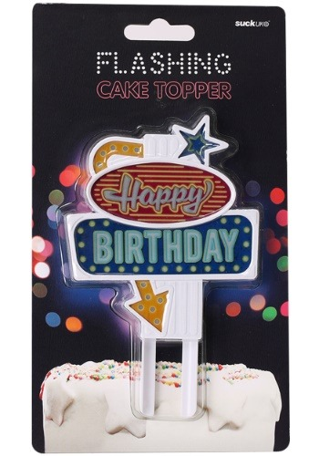 Flashing Birthday Cake Topper