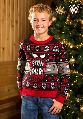Child WWE Finn Bálor Ugly Christmas Sweater update1
