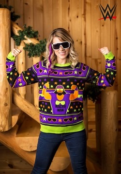 Adult WWE Macho Man Ugly Christmas Sweater alt2
