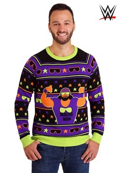 Adult WWE Macho Man Ugly Christmas Sweater alt3