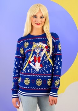 Adult Sailor Moon Fair Isle Ugly Christmas Sweater Alt 2