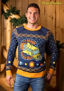 Adult Magic School Bus Ugly Christmas Sweater alt1