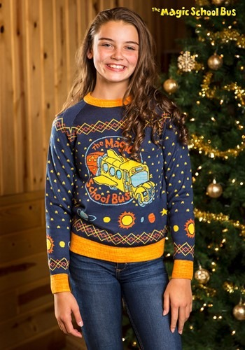 Child Magic School Bus Ugly Christmas Sweater update