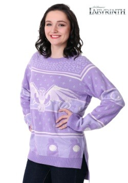 Women's Hi-Lo Labyrinth Owl Ugly Christmas Sweater2