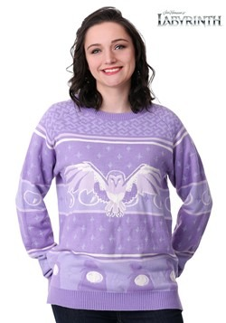 Women's Hi-Lo Labyrinth Owl Ugly Christmas Sweater