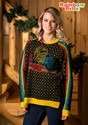 Women's Hi-Lo Rainbow Brite Ugly Christmas Sweater update