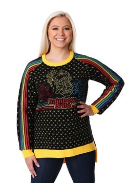 Women's Hi-Lo Rainbow Brite Ugly Christmas Sweater