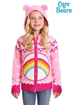 Child Cheer Bear Care Bears Zip Up Knit Sweater