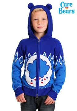 Child Grumpy Bear Care Bears Zip Up Knit Sweater