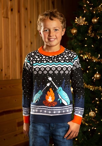 Child Narwhal Ugly Christmas Sweater update