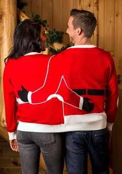 Adult Two Person Mr. & Mrs. Claus Ugly Christmas Sweater bac