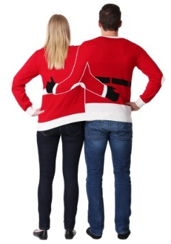 Adult Two Person Mr. & Mrs. Claus Ugly Christmas Sweater2