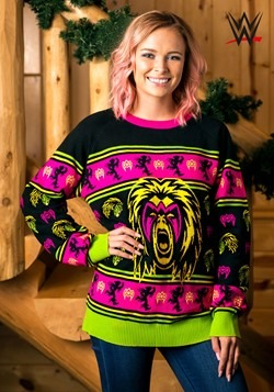 Adult WWE Ultimate Warrior Ugly Christmas Sweater alt1